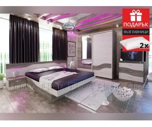 Спален комплект Арамо 160/200 с включен матрак и подарък възглавници