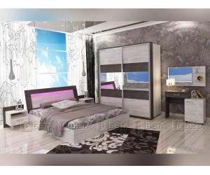 Спален комплект Авангард с LED осветление и Матрак