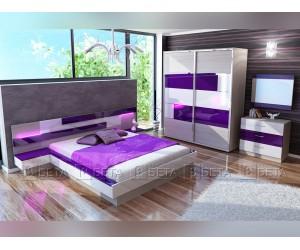 Спален комплект Фиоре с LED осветление