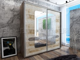 Двукрилен гардероб Форест - с плъзгащи врати