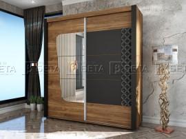 Двукрилен гардероб Кафе - с плъзгащи врати