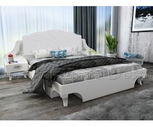Спалня от спален комплект Белисима - Бяло гланц/Бяло - 160/200 см.