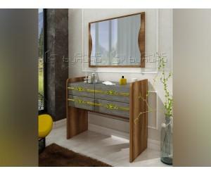 Скрин-тоалетка Оскар - Златен мрамор/ Барок - 87 см.