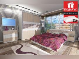 Спален комплект Адоре 160/200 с включен матрак и подарък възглавници