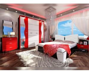Спален комплект Амор с LED осветление