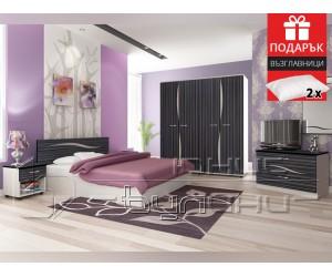Спален комплект Лагуна 160/200 с подарък възглавници - разпродажба - с безплатна доставка