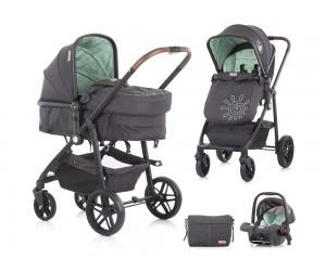 Комбинирана детска количка Адора - мента - Chipolino