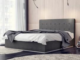 Тапицирано луксозно легло Madrid в сива дамаска - 120/200