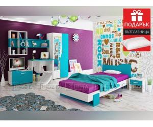Обзавеждане за детска стая Куин 90/200 - с включен матрак и подарък възглавница