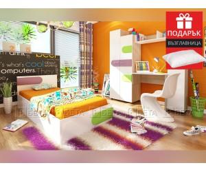Обзавеждане за детска стая Скай 82/190 - с включен матрак и подарък възглавница
