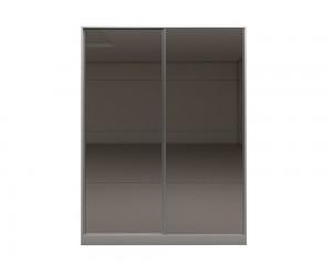 Гардероб с две плъзгащи врати и огледала Калифорния МК4 - Огледала/Бяло -  160 см.