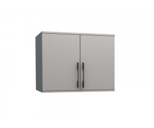 Горен шкаф с две врати Калифорния МК13 - Бяло гланц/Бяло -  90 см.
