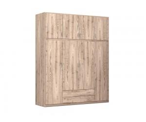 """Четирикрилен гардероб с чекмеджета """"Classic"""" DIOMMI (25-104) - 200 см."""