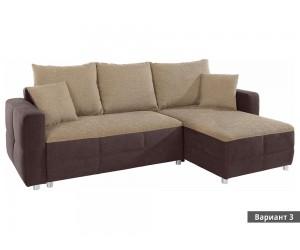 Ъглов диван Quadro - с функция сън и ракла