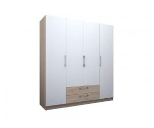 Четирикрилен гардероб с чекмеджета ЕД - по проект