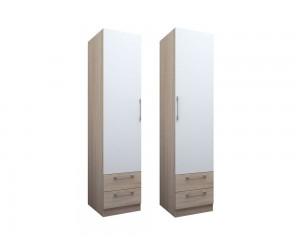 Еднокрилен гардероб с чекмеджета ЕД по проект - ляв/десен