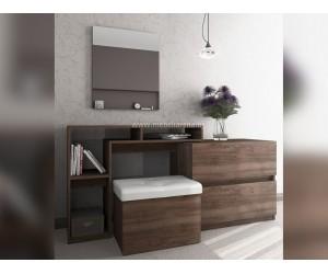 Скрин, тоалетка с огледало и табуретка-ракла Казабланка - по поръчка