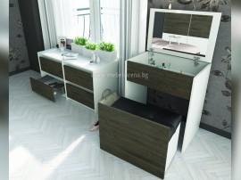 Скрин - тоалетка с табуретка Роксан - с огледало - по поръчка