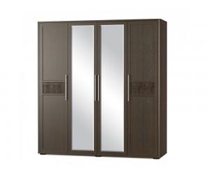 Гардероб 4Д TOKIO с четири врати и огледало - венге