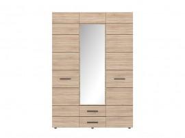 Гардероб SOLO 3D2S с три врати, чекмеджета и огледало