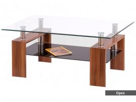 Стъклена холна маса DIANA MAX 50 H - MDF, орех, венге