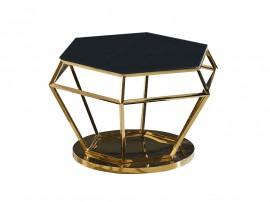 Дизайнерска холна маса LUXURY - черно стъкло