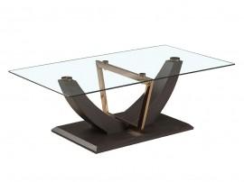 Дизайнерска стъклена холна маса SANDRA - MDF венге