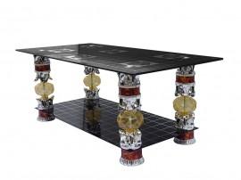 Дизайнерска холна маса SISI - черно стъкло