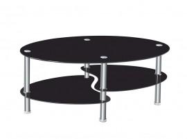 Дизайнерска холна маса TARA - черно стъкло