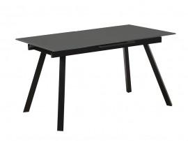 Разтегателна трапезна маса FRED - тъмно сив/черен