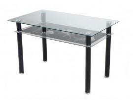 Правоъгълна трапезна маса EVAN - с принт стъкло