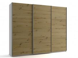 Голям гардероб с три плъзгащи врати МОД 9 - Артизан светъл - 270 см.