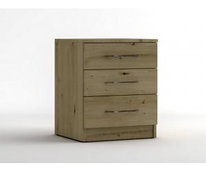 Нощно шкафче с три чекмеджета МОД 12 - Артизан светъл - 50 см.