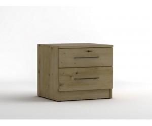 Нощно шкафче с две чекмеджета МОД 13 - Артизан светъл - 50 см.