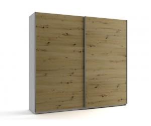 Среден гардероб с две плъзгащи врати МОД 7 - Артизан светъл - 240 см.