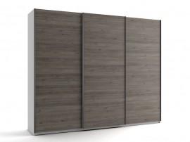 Голям гардероб с три плъзгащи врати МОД 9 - Дъб Давос Трюфел - 270 см.