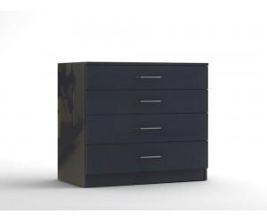 Скрин с четири чекмеджета МОД 14 - МДФ Антрацит гланц - 90 см.