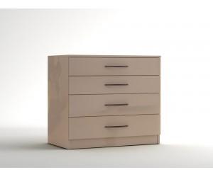 Скрин с четири чекмеджета МОД 14 - МДФ Крем гланц - 90 см.