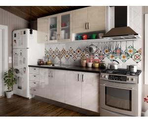 Готова права кухня МДФ Елит 10 - 260 см.  - с цял термоплот