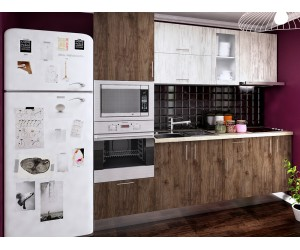Готова права кухня с цял термоплот Хит 1 - 240 см.