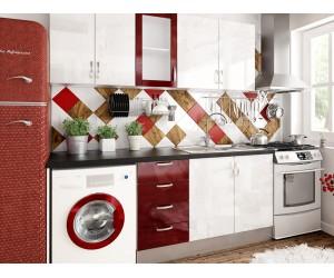 Готова права кухня МДФ с цял термоплот Елит 11 - 260 см.