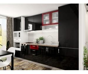 Готова права кухня МДФ с цял термоплот Елит 15 - 305 см.
