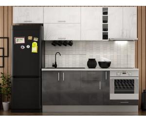 Готова права кухня МДФ с цял термоплот Елит 8 - 265 см.