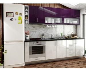 Готова права кухня МДФ с цял термоплот Елит 9 - 255 см.