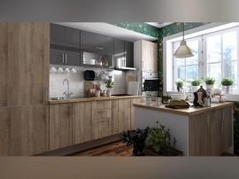 Готова права кухня с цял термоплот Хит и Елит 12