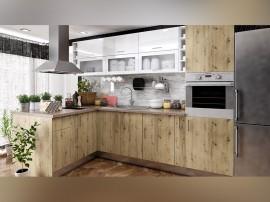 Готова ъглова кухня с цял термоплот Хит и Елит 13