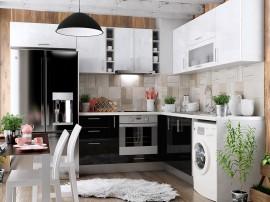 Готова ъглова кухня МДФ с цял термоплот Елит 14
