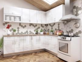 Готова ъглова кухня МДФ с цял термоплот Елит 18