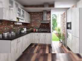 Готова ъглова кухня с цял термоплот Хит 2