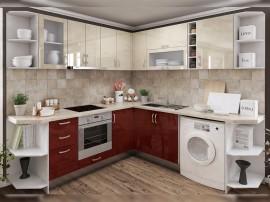 Готова ъглова кухня МДФ с цял термоплот Елит 7